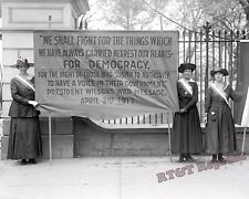 Photograph of Woman Suffrage Pickets at the White House Year 1917 8x10