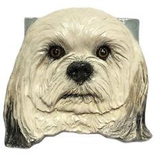 Havanese Dog Ceramic Tile Handmade 3d Pet Portrait Sondra Alexander Art