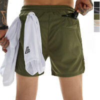 Mens Workout Running Shorts Sports Training Gym Shorts with 3 Pockets Quick Dry
