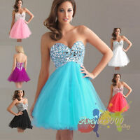 Sweetheart Party Bridesmaid Formal Evening Short Prom Dress Size 6 8 10 12 14 16