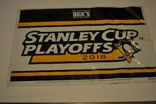 Pittsburgh Penguins 2017 &  2018 Stanley Cup Playoffs Yard Sign Banner