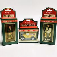 COCA COLA TOWN SQUARE COLLECTION 1992 Figures And Car Lot #7980, #7920 , 7940 Lo