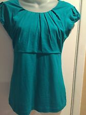 Beautiful BANANA REPUBLIC Women's Top Blouse stretch Sz Small Green