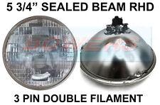 "5 3/4"" GENUINE SEALED BEAM HEADLIGHT HEADLAMP CLASSIC CAR / CASE TRACTOR RHD UK"