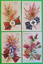 Luck Wishes DieCut Scotch Emblem Fitment-4 Novelty VTG Valentine & Sons Postcard