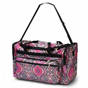 Large Capacity Shoulder Duffel Bag For Business Trip Camping - Purple Paisley