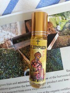 Greek Orthodox anointing oil myrrh CORFU Camarellas Pantokratoras