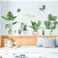 Potted Wall Sticker Botany Home Decal Vinyl Removable Art Mural Decor