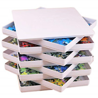 Puzzle Sorting Trays with Lid and 8 Trays Jigsaw Puzzle Sorters Fit Up to 100...