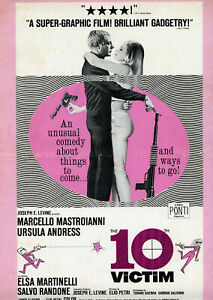 The 10th VICTIM • Andress & Mastroianni • 1965 • Pathe/Embassy • Complete