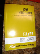 1993 HINO TRUCK ORIGINAL FACTORY OWNER'S DRIVER'S MANUAL MODELS FA FB