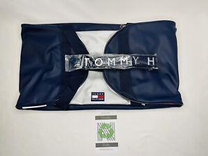 Tommy Hilfiger Stripe Navy Flag Large Duffle Bag Men, Women, Teens Travel Gym