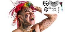 SHIP FROM NY - temporary tattoo - ekashi69 Temporary Tattoos Set - 6ix9ine Temp
