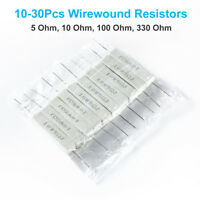 10-30pc Wirewound Cement Resistor Ceramic 10W horizontal 5 Ohm-330 Ohm-Free Post
