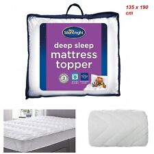Mattress Topper Memory Foam Silentnight Double Super Soft Cover Thickness 2.5cm