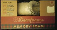 Dearfoams Women's Sweater Knit Clog Memory Foam Slippers (XL/11-12, Oatmeal)