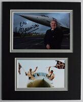 Mike Bannister Signed Autograph 10x8 photo display Concorde Pilot AFTAL COA