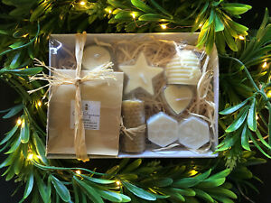 Gift Hamper: Australian Hand Poured Organic Beeswax Candle Hamper, Natural Scent