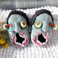 Neu Plusch Zombie Slipper Hausschuhe Pantoffeln Schlappen Schuhe Haus Halloween