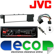 BMW 3 Series E46 JVC CD MP3 Tuner USB Aux iPod Car Stereo & Round Pin Fascia Kit