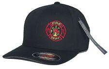 Fire Department Flexfit Fitted Hat Firefighter Paramedic EMT Rescue S/M L/XL XXL