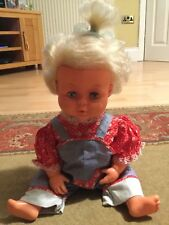 Vintage Tiny Tears baby doll 3/4 eye 16H Palitoy Ltd 1970s Made in England blink