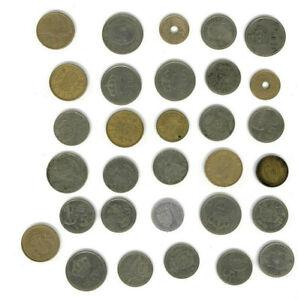 un lot de 31 pieces pesetas espagne espagnol