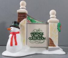 Dept 56 011 Heritage Village Sign w/Snowman Original Box Unused #5572-7 Retired
