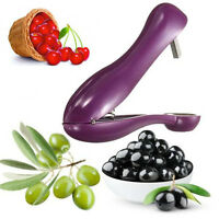 Cherry Olive Pitter Stoner Stone Pit Seed Remover Easy Squeeze Grip Xmas Gift UK