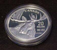 Canada 2012 $20 Fine silver - Bull Moose