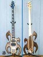 1990s Custom HEMBRY FLM Reverse 5 BASS Electric Guitar 5-String * EXOTIC Woods !