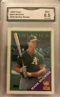 1988 Topps Mark McGwire #580 All-Star Rookie GMA 8.5 Mint