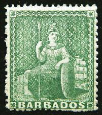 Barbados Stamp 1861 1/2d Britannia Scott # 13 SG17 Unused NG