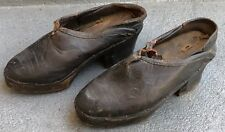 Vintage Pair Of Leather Children Shoes Horseshoe On Bottom