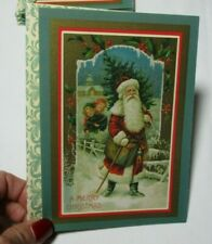 Vintage Paper Magic Vintage Victorian Santa Claus Cards Lot of 19 Unused