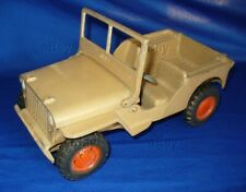 WILLYS JEEP PROMO CAST ALUMINUM AL-TOY MODEL TOY 1950s VINTAGE DIECAST CJ ARMY