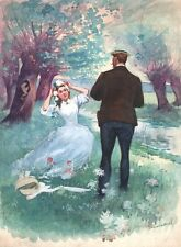 Charles Morel. Aquarelle - Miss Harriet. Guy de Maupassant - 1901