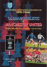 OLDHAM ATHLETIC v MANCHESTER UTD FA CUP SEMI-FINAL 1994