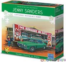 Running On Empty Blue Opal Jigsaw Puzzle by Jenny Sanders