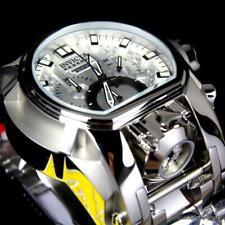 Invicta Reserve Bolt Zeus Magnum Suizo Acero Plateado Dial Dual 52mm Reloj Nuevo