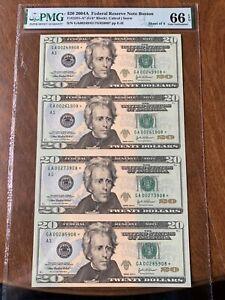 (1) 2004 A - PMG BOSTON SERIAL  NUMBER - $20 STAR NOTE - GEM UNC 66 EPQ SHEET