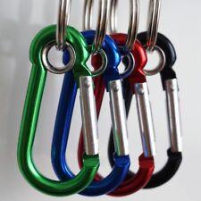 Karabinerhaken Aluminium Schlüsselanhänger (mit) Ring oder D-Form 4 stück