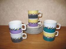 WINTERLING *NEW* Set 6 Tasses à café + Soucoupes Cups with coasters