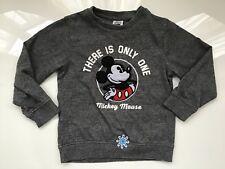 Ragazzi Bambini Ufficiale Disney Mickey Mouse Grigio Manica Corta T Shirt Top