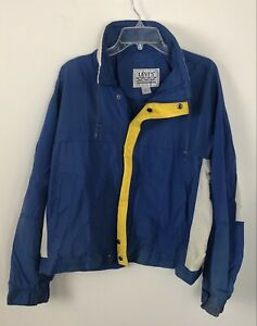 Vintage Levi's Thunder River Windbreaker Jacket Size Large Color block 80s 90s