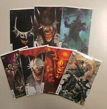 Batman Who Laughs 1 - 7 Complete Variant DC Comic Lot COVER B Set