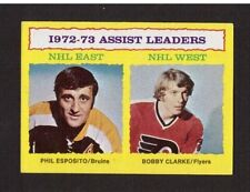 Assists Phil Esposito Bobby Clarke #2 1973-74 Topps NHL Hockey Card EX/MT