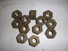 "Vintage Stationary Engine 3/4"" BRASS Whitworth nuts NOS Machined new old stock"