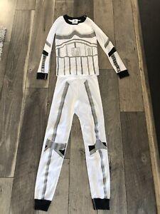 Kids Hanna Andersson Star Wars  Glow In Dark Long John Pajamas Size 8