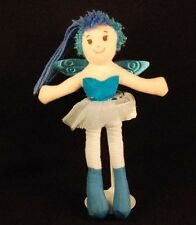 "Angel Wings Doll Blue Ballerina Pink Tu Tu Lovey Boots 10"" Plush Stuffed Toy"